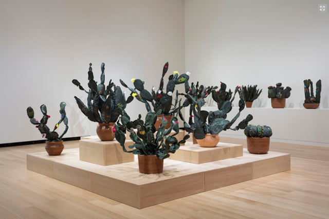 """John Bentham. Exhibition installation view of """"Margarita Cabrera: Space in Between,"""" 2018. Courtesy of the Wellin Museum of Art Hamilton College."""