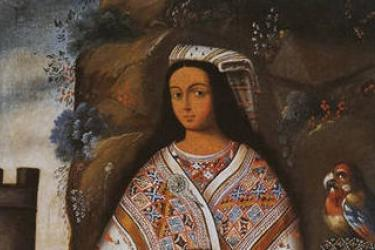 Inka ñusta (cropped); Museo del Inka, Cusco, Peru; oil on canvas