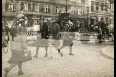 Lyonel Feininger,Untitled(street scene, double exposure, Halle), 1929-30.