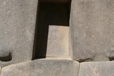 Trapezoidal Niche at Ollantaytambo, Peru. Inka, late 15th c. Photograph by Carolyn Dean.