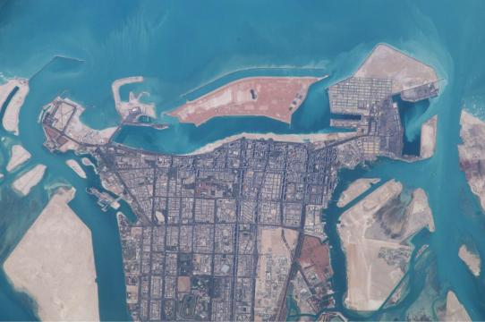 Abu Dhabi from Space, March 2003
