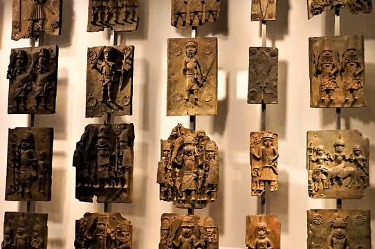 A display of Benin Bronzes at the British Museum