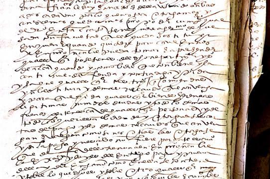 17th century folio, colonial archives, Cusco (Archivo Regional del Cusco)