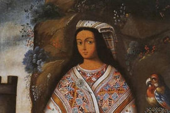 Inka ñusta (cropped); Museo del Inka, Cusco, Peru; oil on canvas