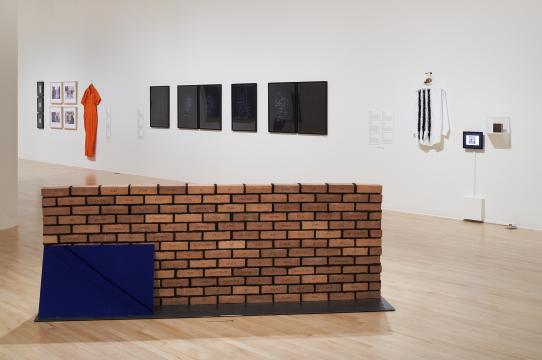 Installation photography of Barring Freedom at San José Museum of Art
