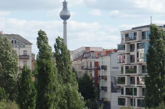 Berlin Wall Park, photo by Sara Blaylock, enjoying a year in the city while researching her dissertation topic