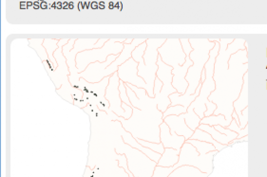 Screen shot of Gaby's digital mapping project on Inca territory
