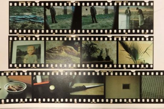 "Detail of ""Potsdam, 06. 10.1985-Falkenberger Chaussee 13/502, 1092 Berlin-Ost, 07.10.1985,"" in Furuya Seiichi, Mémoires 1978-1988 (Graz: Edition Camera Austria and Neue Galerie am Landesmuseum Joanneum, 1989) p. 89 (research photo by Ellen Takata)"