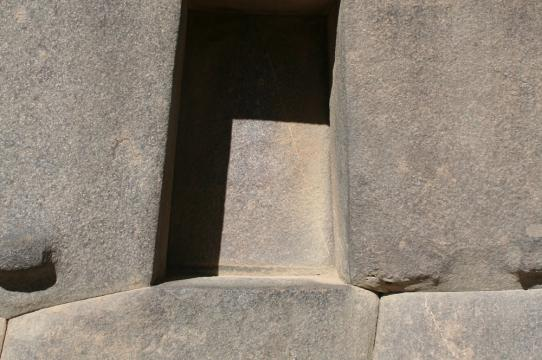 Trapezoidal Niche at Ollantaytambo, Peru. Inka, late 15th c. Photograph by Carolyn Dean.