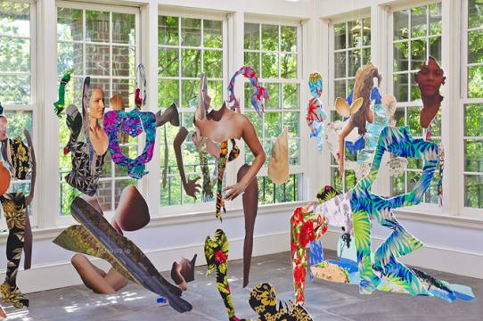 Joiri Minaya, dominicanwomengooglesearch, 2016. Photos of installation at Wave Hill Sunroom Project Space, Bronx, NY (July 12 - Sept 5, 2016). Photo credit: Stefan Hagen. Courtesy of the artist.